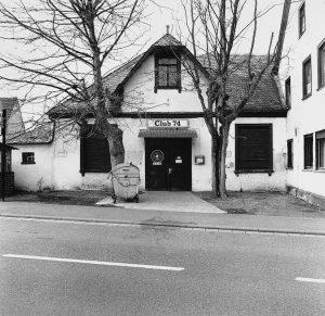 """Eingangsbereich zum Saal Lanz, damals """"Club 74"""", etwa Anfang der 1990er Jahre"""