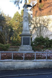 Kriegerdenkmal in der Frankfurter Straße
