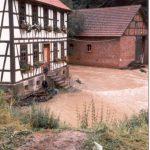 Hochwasser am Petershammer 1981, Bild M. Hannemann