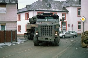 """Amerikanisches Militärfahrzeug beim Manöber """"Ready Crucible 2005"""", Bild: Peter Hartmann"""