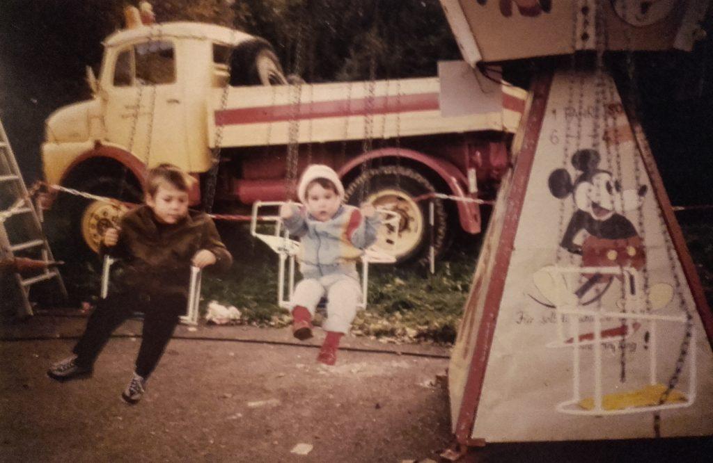 Kinderkarussell auf der Escher Kerb, 1984